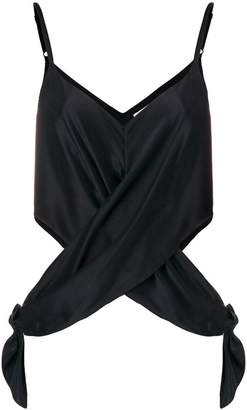 Alexander Wang sleeveless wrap cutout blouse