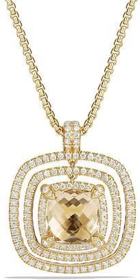 David Yurman Ch'telaine Pavé Bezel Enhancer with Champagne Citrine and Diamonds in 18K Gold