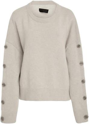 Nili Lotan Martina Buttoned Wool and Cashmere-Blend Sweater