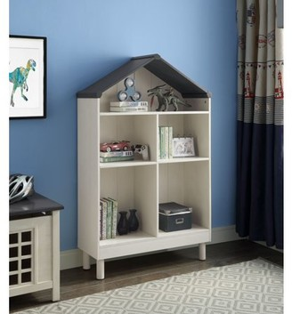 ACME Furniture Acme Doll Cottage Bookcase in Weathered White and Washed Gray