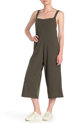 Cotton Emporium Sleeveless Shoulder Tie Crop Wide Leg Jumpsuit
