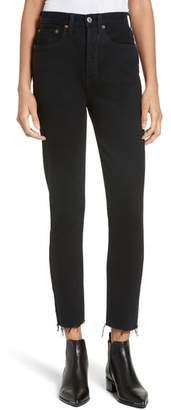 RE/DONE High Waist Stretch Crop Jeans