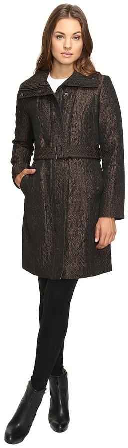 Cole Haan Cole Haan Italian Jacquard Genevieve Weave Coat