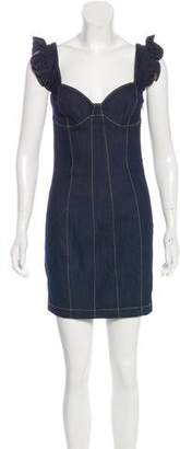 Cinq à Sept Denim Sleeveless Sheath Dress w/ Tags