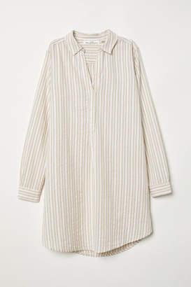 H&M Long Cotton Shirt - Beige