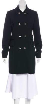 Barbara Bui Long Sleeve Knee-Length Coat