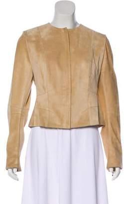 Christian Dior Suede Zip-Up Jacket