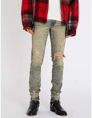 Amiri Artist Broken paint-splattered slim-fit skinny jeans