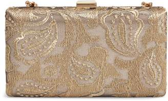 Nordstrom Metallic Lace Pattern Box Minaudiere