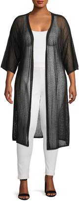 Gabrielle Plus Half Sleeve Open Front Cardigan