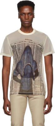 Helmut Lang Yellow Semi-Sheer Little T-Shirt