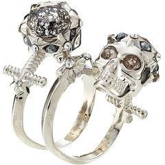 Alexander McQueenAlexander McQueen Embellished Skull Ring