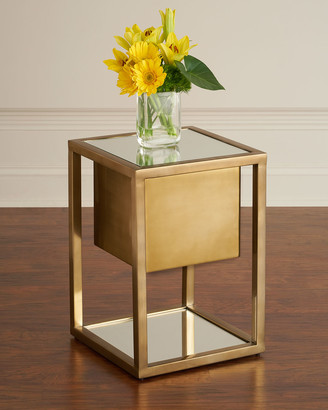 Global Views Gladstone Pedestal Side Table