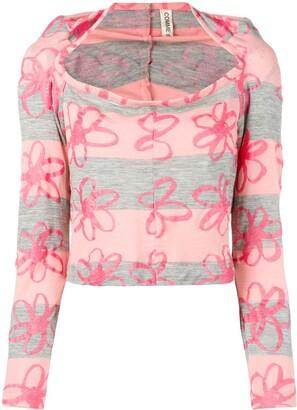Comme des Garcons Pre-Owned 1996's floral blouse