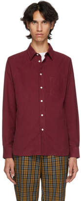 Editions M.R Burgundy Montparnasse Corduroy Shirt