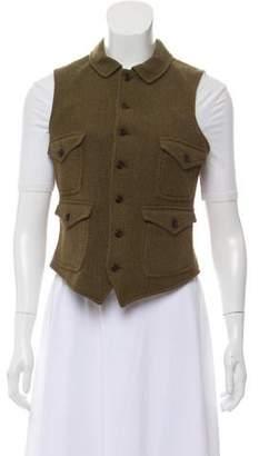 Ralph Lauren Leather & Wool Vest