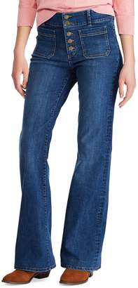 Chaps Flared Mid-Rise Jeans