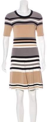 Torn By Ronny Kobo Striped Knit Dress