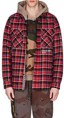 Off-White Men's Cotton-Blend Flannel Shirt