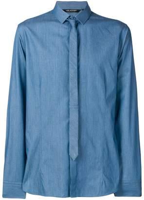 Neil Barrett shirt with skinny tie