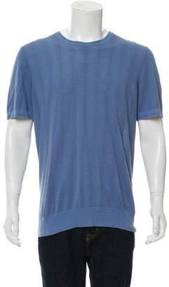 Hermes Woven Crew Neck T-Shirt