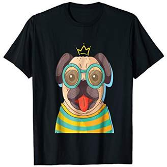 Cute and Funny Summer Time Pug Dog Lifestyle T-shirt