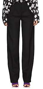 Narciso Rodriguez Women's Wool Straight Pleated Trousers - Black
