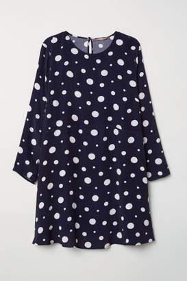 H&M H&M+ Short Dress - Blue
