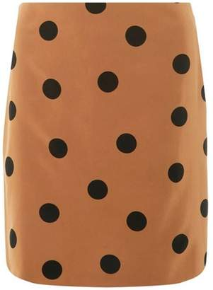 Dorothy Perkins Womens **Tall Camel Spotted Mini Skirt