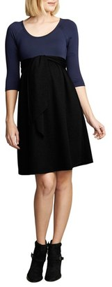 Women's Maternal America Tie Front Maternity Dress $148.80 thestylecure.com