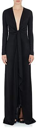 Givenchy Women's Tie-Detailed Jersey Gown - Black