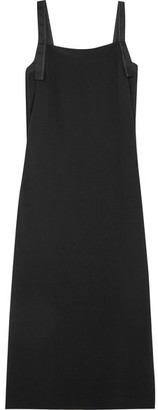 Helmut Lang - Tie-back Crepe Midi Dress - Black $595 thestylecure.com