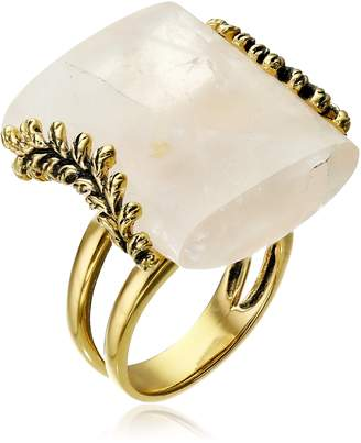 Barse Rose Quartz Statement Ring, Size 7