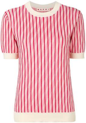 Marni striped knitted T-shirt