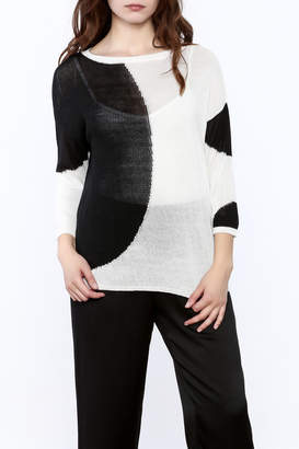 Katherine Barclay White And Black Sweater