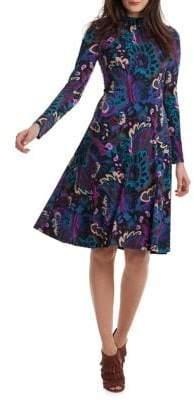 Trina Turk Casa Mexico Tia Rosita Fit-&-Flare Dress