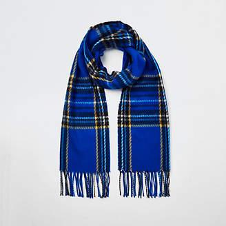 River Island Womens Blue tartan check scarf