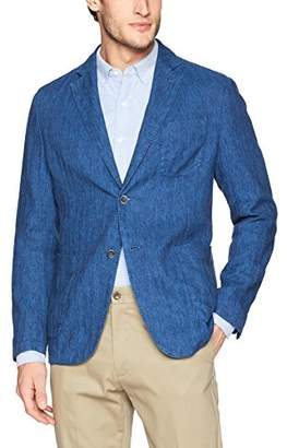 Bugatchi Men's Two Button Unconstructed Single Breasted Blazer