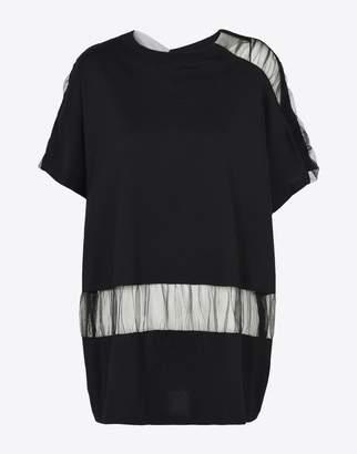 Maison Margiela (メゾン マルジェラ) - MAISON MARGIELA コットン&チュール カットアウト tシャツ