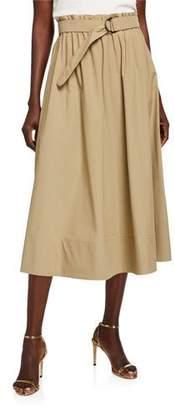 Akris Punto Full Poplin Skirt