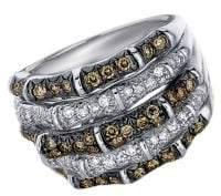 LeVian Chocolate Diamonds, Vanilla Diamonds & 14K White Gold Ring