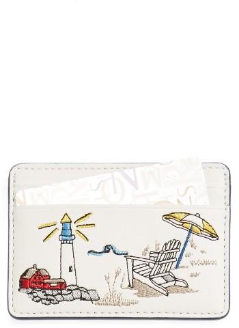 Tory BurchWomen's Tory Burch East Coast Slim Faux Leather Card Case - White