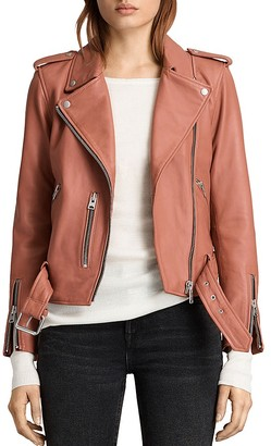 ALLSAINTS Balfern Leather Biker Jacket $560 thestylecure.com
