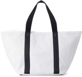 Corroon White Leather Big Beach Daddy Tote