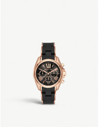 Michael Kors MK6580 Bradshaw rose gold-toned stainless steel chronograph watch