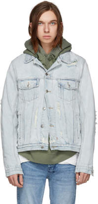Ksubi Blue Denim Classic Chaser Jacket