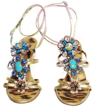 Roberto Cavalli Multicolour Leather Sandals