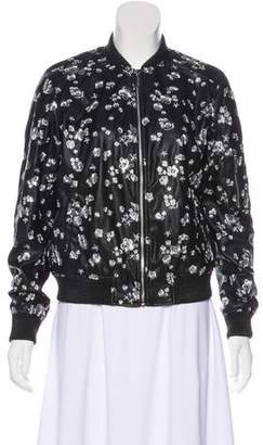 MICHAEL Michael Kors Embroidered Faux Leather Jacket