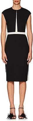 Narciso Rodriguez Women's Wool Twill Fitted Sheath Dress - Black