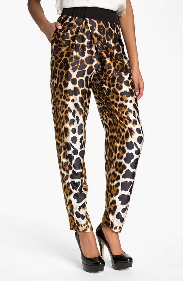 Robert Rodriguez Leopard Print Silk Pants